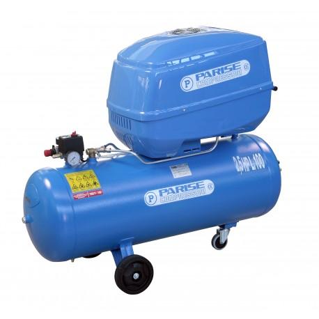 Compressore SILENZIATO bicilindrico 100 litri 2,5 hp TRIFASE 8 bar MOD. P 100 ACT-Box