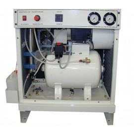 Compressore oil-free silenziato a secco con raffreddatore, essiccatore e cabina 30 Lt