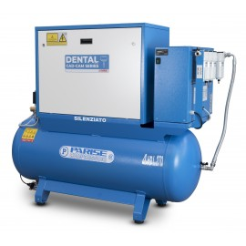 Title: SILENT oil-free dry air compressor 2 HP 8 bar with dryer MOD. P 30 OF2P-RES