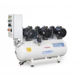 Oil-free TANDEM air compressor 2 x 2 HP 8 bar with dryer MOD. P 100 OF2P-RET