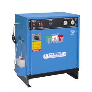 Compressore SILENZIATO bicilindrico 30 litri 2 hp 8 bar MOD. SV 30 ACm