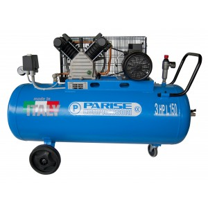 Compressore a cinghia bicilindrico 100 litri 3 hp 8 bar MOD. P 150 CmH