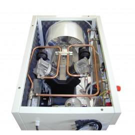 Compressore oil-free silenziato a secco con raffreddatore, essiccatore e cabina 50 Litri