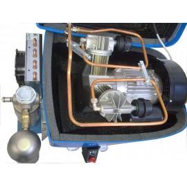 Compressore oil-free silenziato a secco con raffreddatore, essiccatore e cofanatura in plastica 50 Litri