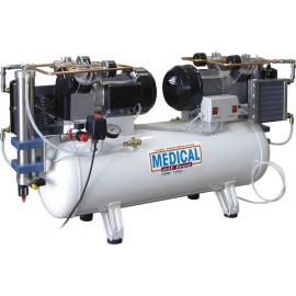 Compressore oil-free a secco con raffreddatore ed essiccatore 100 Lt