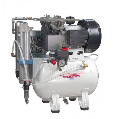 Compressore oil-free a secco con raffreddatore ed essiccatore 30 Lt