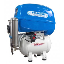 Compressore oil-free silenziato a secco con raffreddatore, essiccatore e cofanatura in plastica 30 Lt